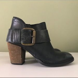Leather ankle booties by Steven